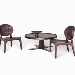 意大利LONGHI桌椅组合3D模型【ID:834735980】