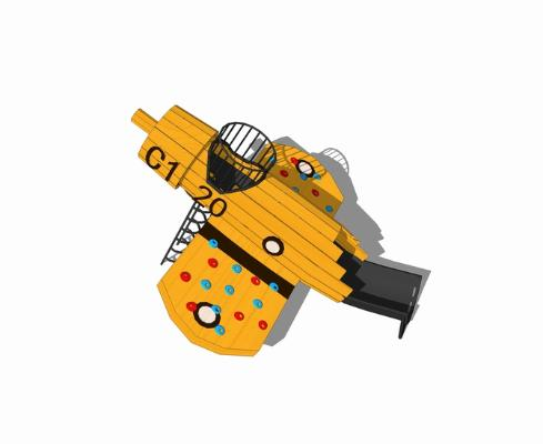 兒童飛機滑梯SU模型【ID:946374695】