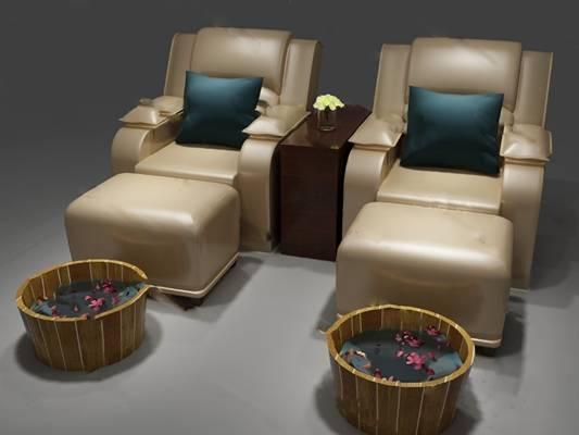 躺椅3D模型下载【ID:219460651】