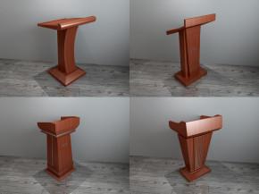 现代实木演讲台组合3D模型【ID:227780337】