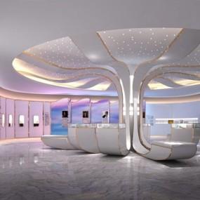 现代珠宝展厅3D模型【ID:128023150】