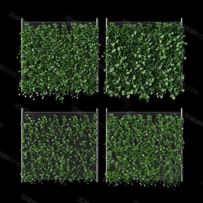 现代绿植墙3D模型【ID:324890629】