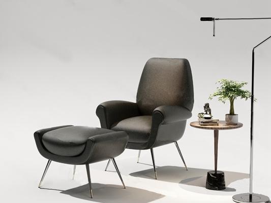 现代单人沙发3D模型【ID:924880646】