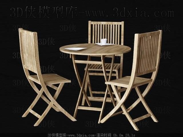 桌椅组合3D模型下载-版本3D2009-213【ID:40204】