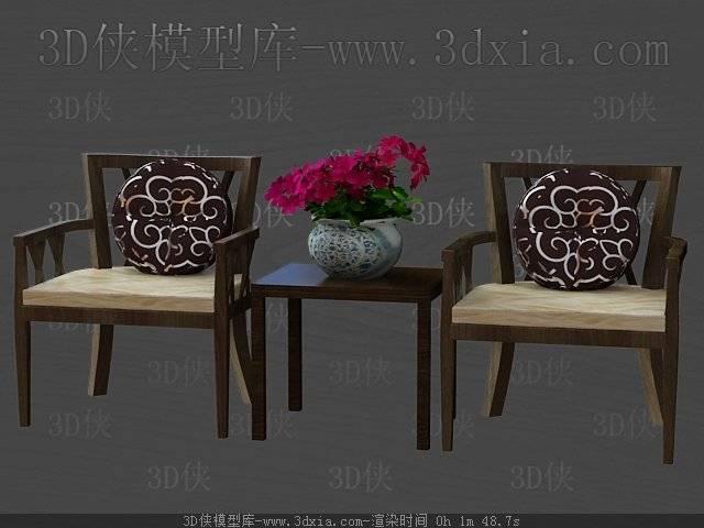 桌椅组合3D模型下载-版本3D2009-31【ID:40240】