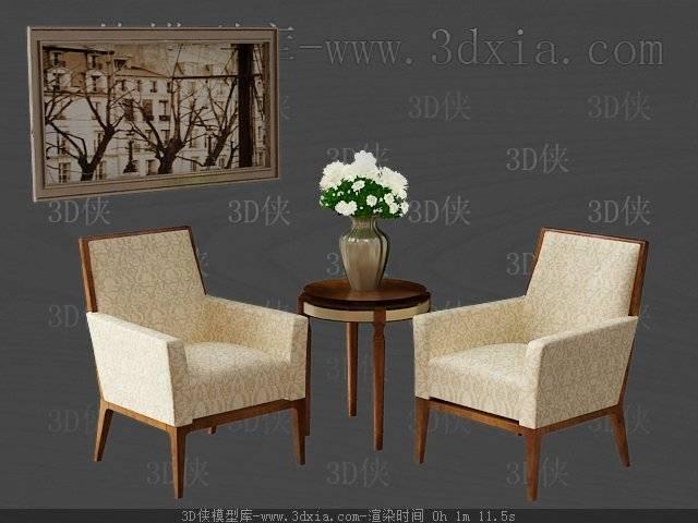 桌椅组合3D模型下载-版本3D2009-54【ID:40295】