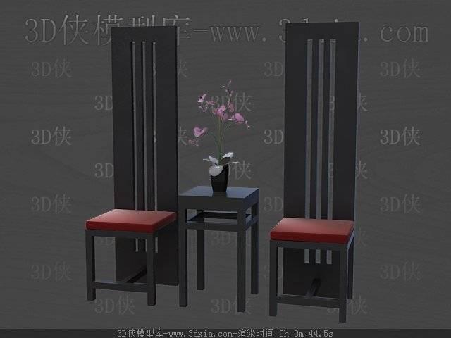 桌椅组合3D模型下载-版本3D2009-69【ID:40299】