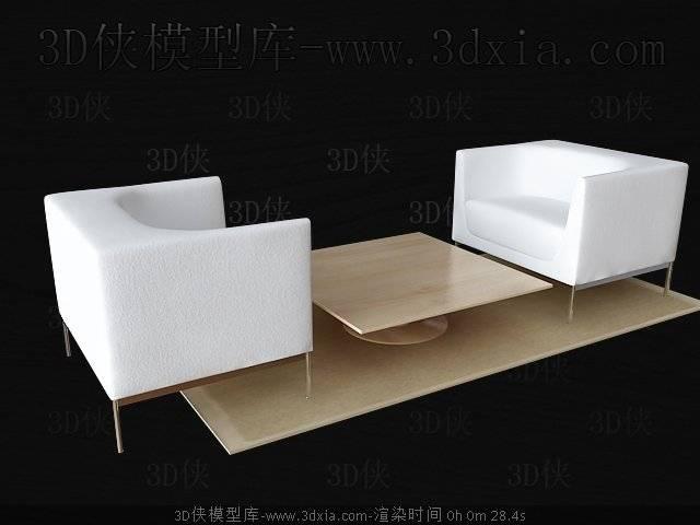 桌椅组合3D模型下载-版本3D2009-a4226【ID:40324】