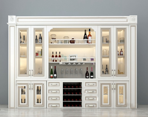 现代酒柜3D模型【ID:924880019】