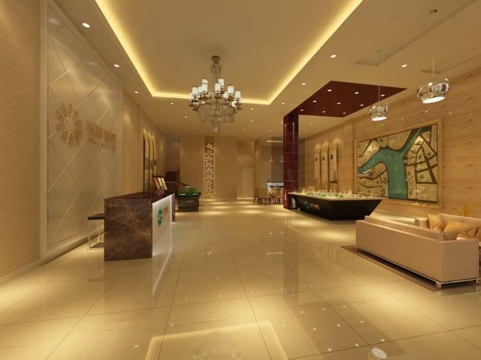 售楼部大厅效果图3D模型【ID:40632】