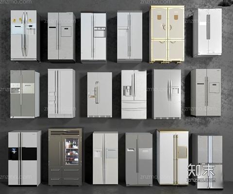 雙開門冰箱合集3D模型【ID:127852248】