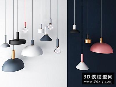 北欧吊燈国外3D模型【ID:829344751】
