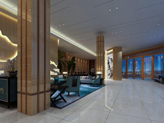 中式大厅3D模型【ID:120614836】