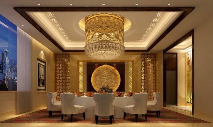 豪华酒店包厢吊顶设计3D模型【ID:40906】