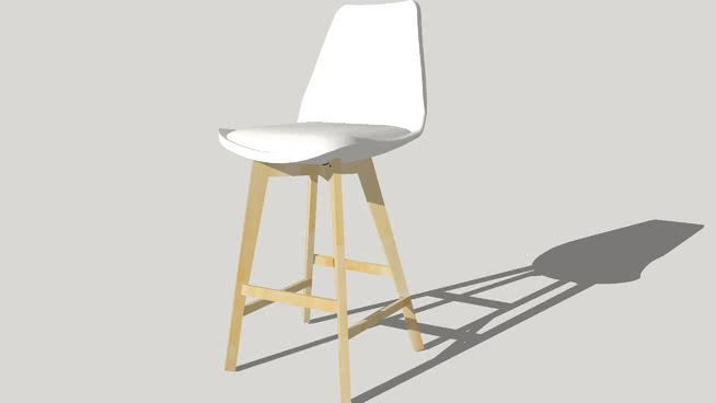 斯堪的纳维亚白快餐凳-卡米拉迷你设计马桶SU模型【ID:439670773】