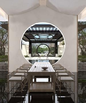 新中式茶室3D模型【ID:331431762】