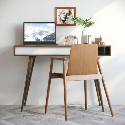 现代书桌椅摆件电脑组合3D模型【ID:127774904】