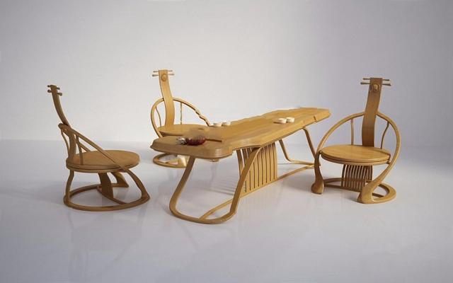 新中式家具3D模型【ID:327925644】