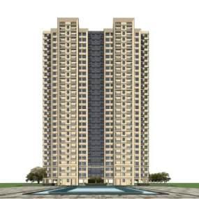 现代高层住宅SU模型【ID:245467763】