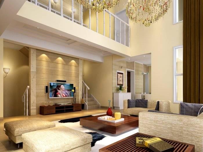 3D别墅客厅设计效果图3D模型【ID:41261】