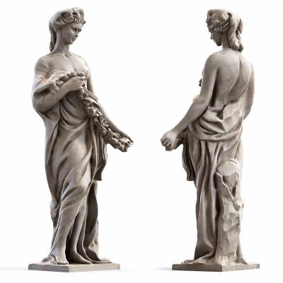 歐式人物雕塑3D模型【ID:327793804】