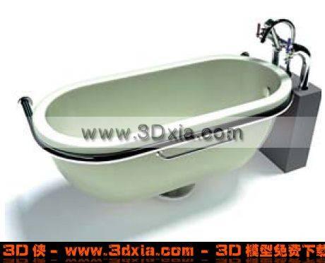 淡绿色浴缸3D模型【ID:4131】