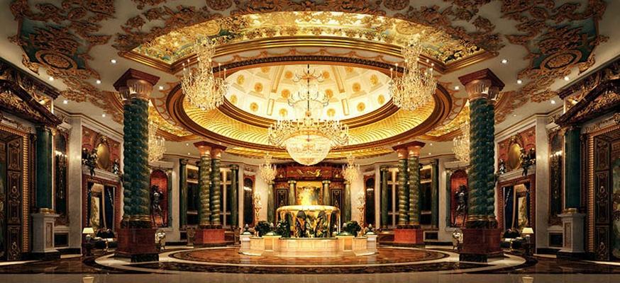 法式酒店大堂3D模型【ID:414912275】