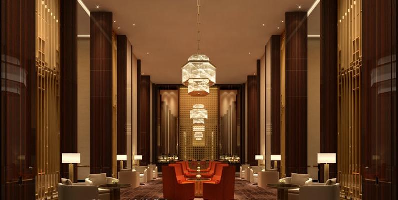 新中式酒店宴会厅3D模型【ID:414920413】
