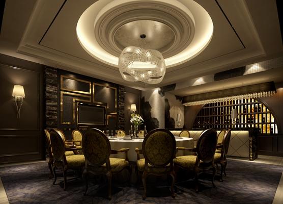 欧式新古典酒店宴会厅3D模型【ID:414936411】