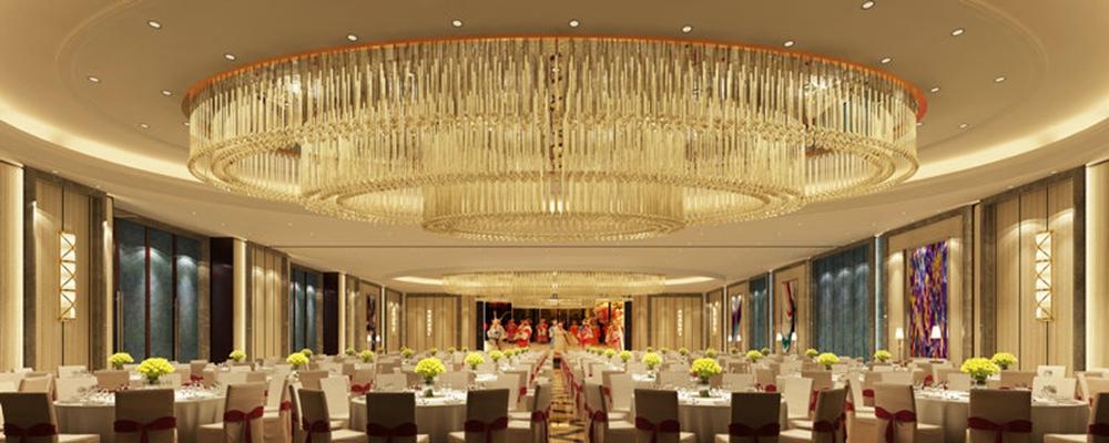 欧式简约酒店宴会厅3D模型【ID:414965495】