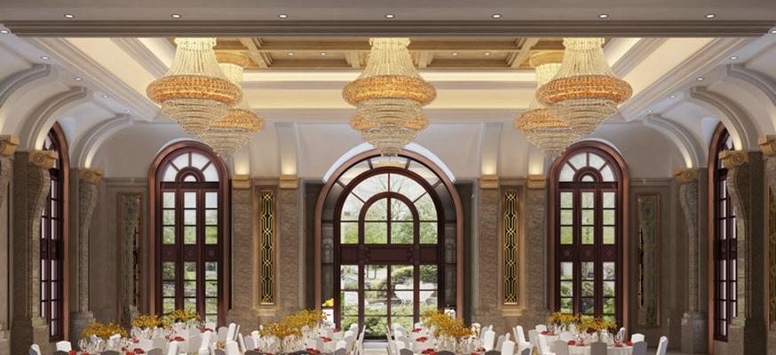 经典欧式酒店宴会厅3D模型【ID:414966494】