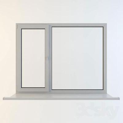 现代平开窗3D模型【ID:415035931】
