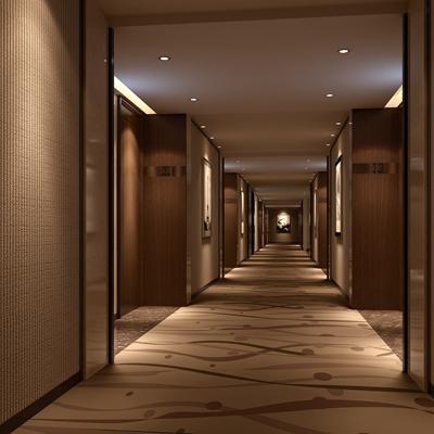 现代酒店玄关过道3D模型【ID:415057820】
