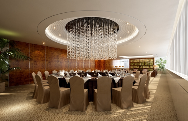 欧式简约酒店宴会厅3D模型【ID:415063436】