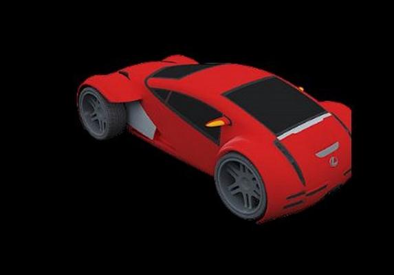 红色玩具汽车3D模型【ID:415064831】