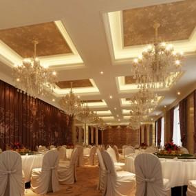 经典欧式酒店宴会厅3D模型【ID:415069479】
