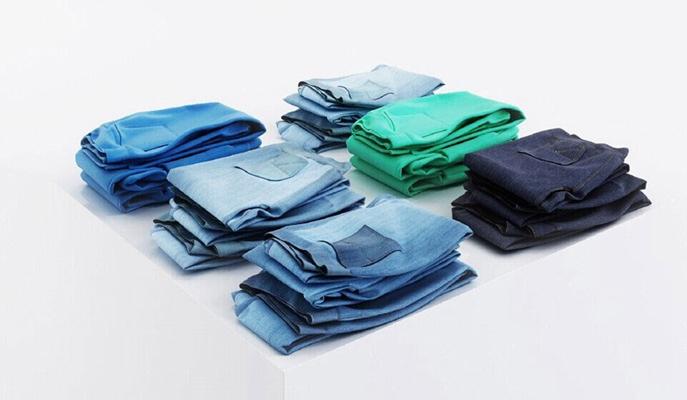 蓝色布艺裤子3D模型【ID:415070336】