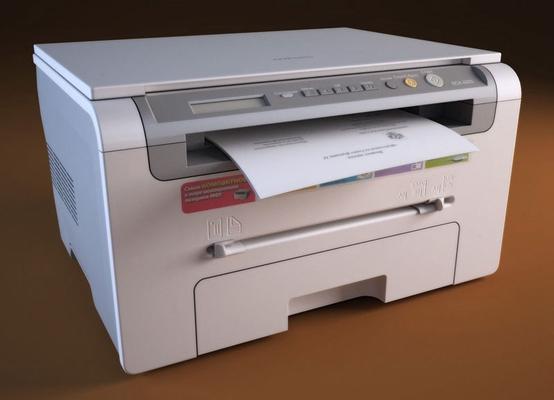 白色打印机3D模型【ID:415079397】