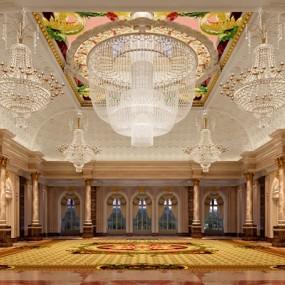 欧式古典酒店大堂3D模型【ID:415086212】