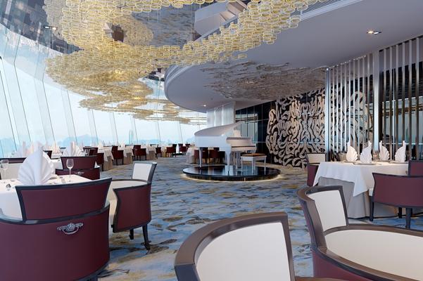现代音乐餐厅3D模型【ID:415113077】
