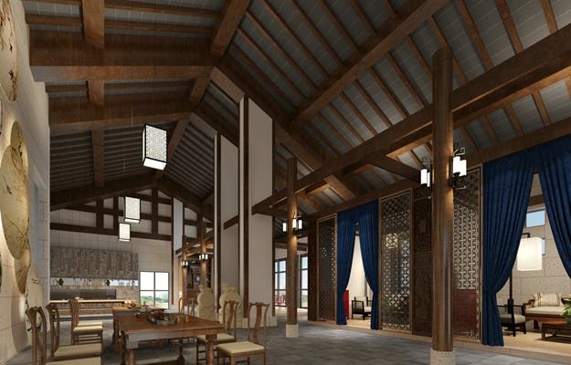 传统中式茶馆3D模型【ID:415202182】