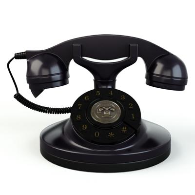 黑色电话3D模型【ID:415233621】