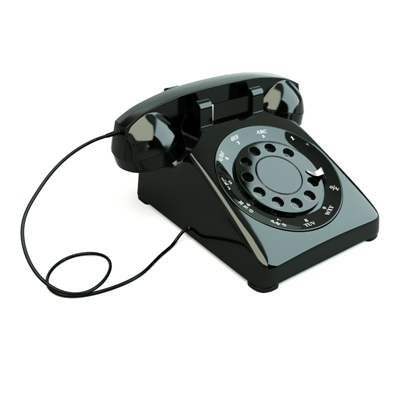 黑色电话3D模型【ID:415233657】
