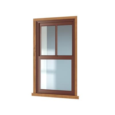 现代长方形木艺平开窗3D模型【ID:415250942】