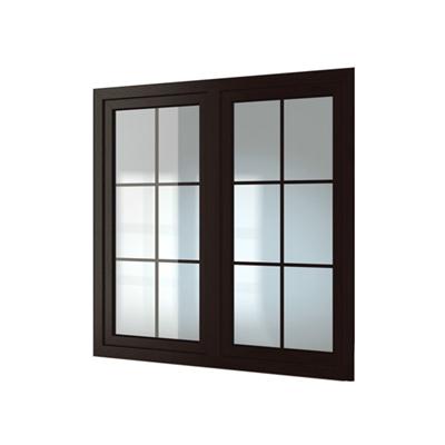 现代长方形木艺平开窗3D模型【ID:415250998】