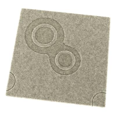 灰色毛呢地毯3D模型【ID:415257097】