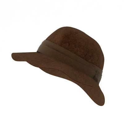 棕色布艺帽子3D模型【ID:415257507】