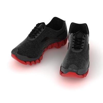 黑色皮革鞋子3D模型【ID:415257658】