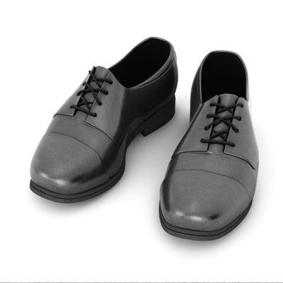黑色皮革鞋子3D模型【ID:415257675】