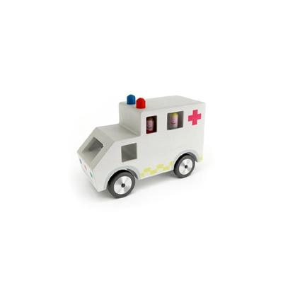 白色塑料玩具汽车3D模型【ID:415263833】